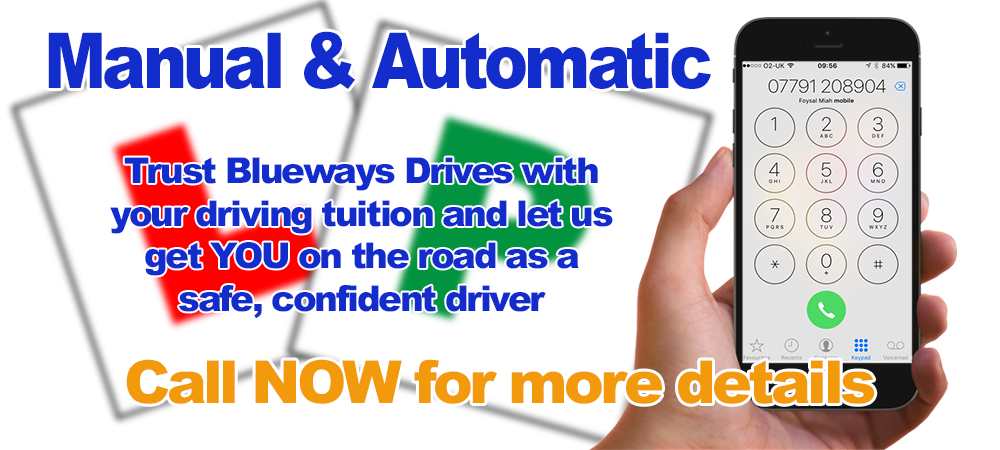 Driving lessons with Blueway Driving school